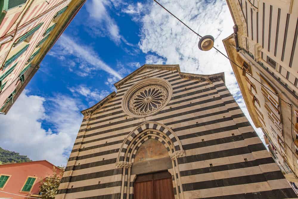 Chiesa di San Giovanni Battista church in Monterosso Cinque Terre Italy