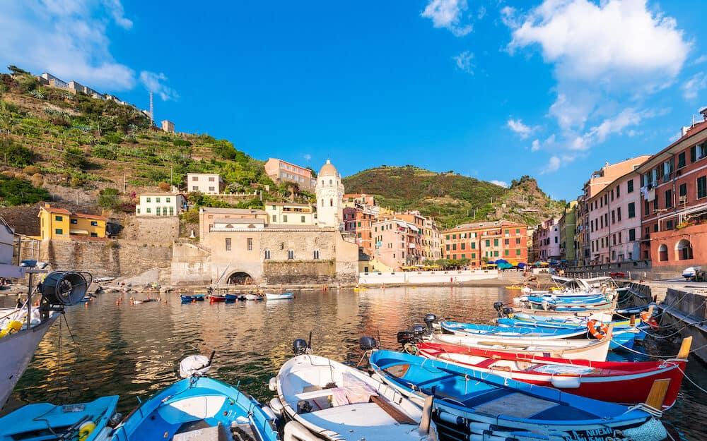 Vernaza, coastal harbour village in Cinque Terre, Italy