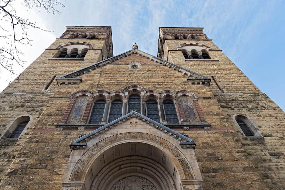 neo-roman catholic church st michael at brüsseler platz in cologne, germany