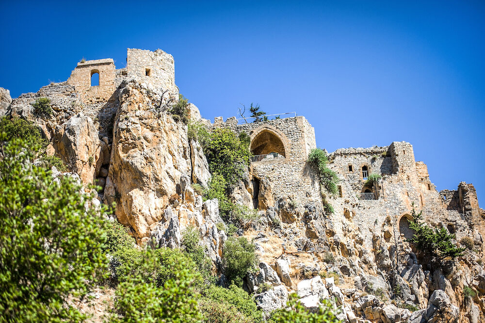 Beautiful St. Hilarion Castle in Kyrenia, Cyprus