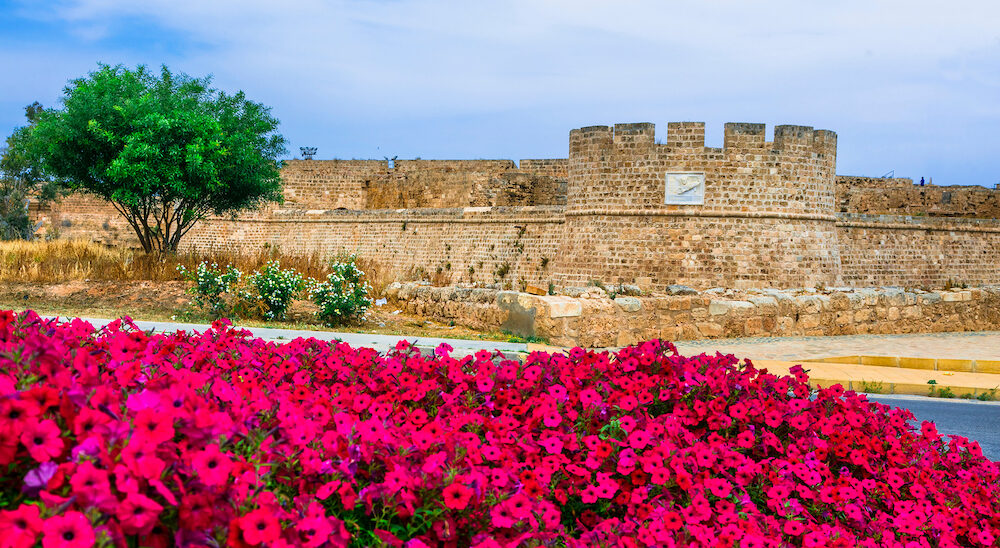 Landmarks of northen Cyprus - ancient Famagusta town, view of citadel
