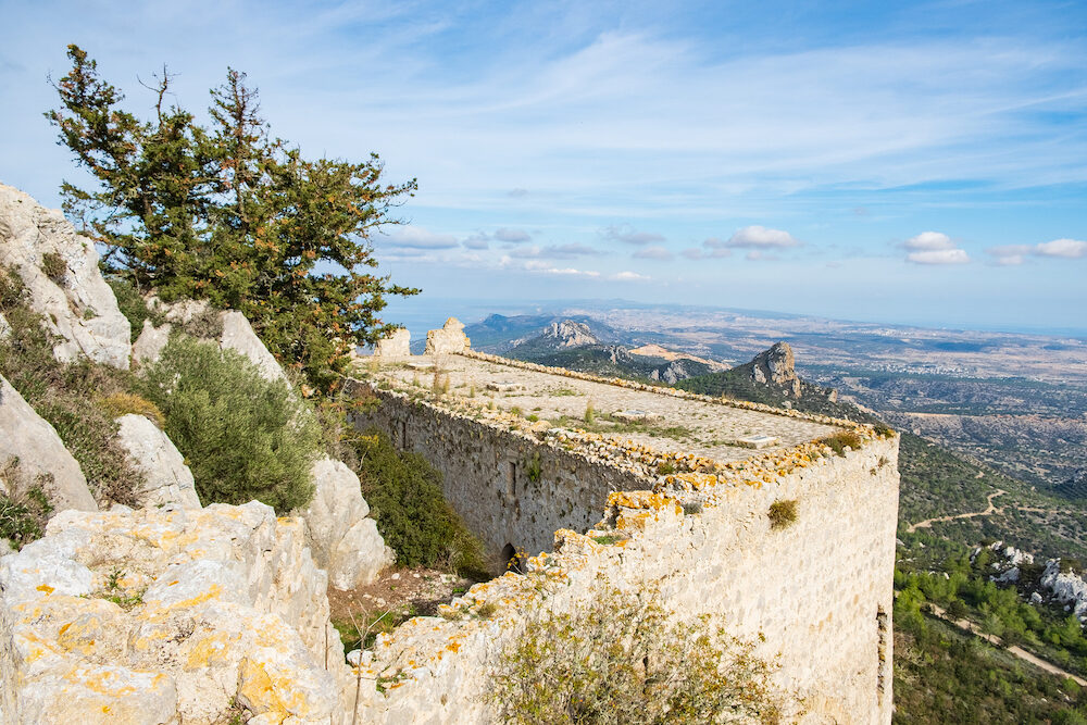 Kantara, Cyprus - The castle of Kantara, the easternmost castle of the three Pentadaktylos mountain range castles in the Ammochostos district in Cyprus.