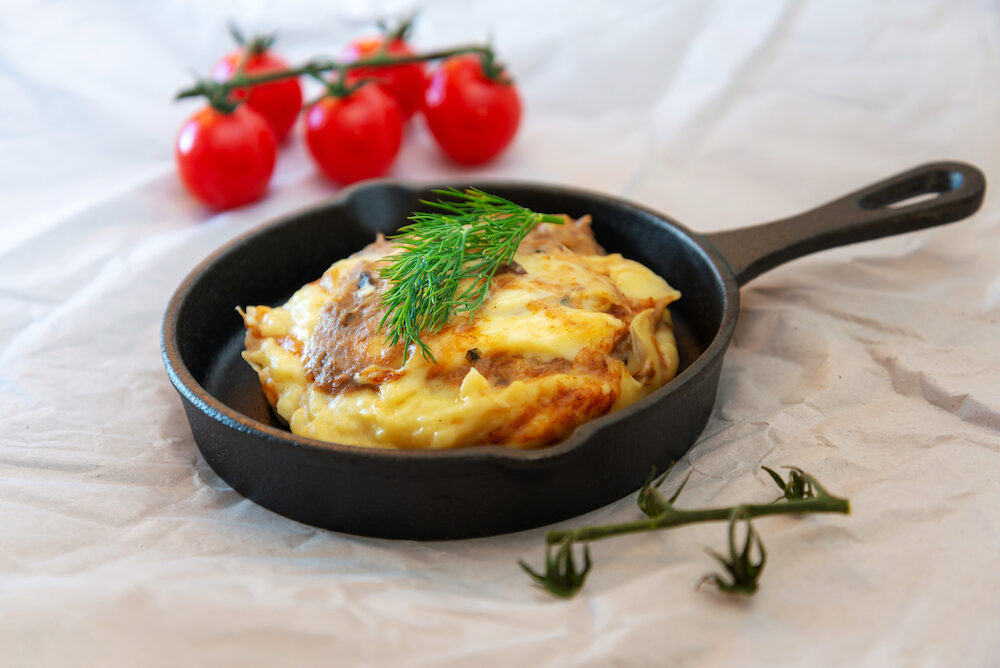 French Tartiflette Recipe Bacon, Potato and Reblochon Cheese Gratin