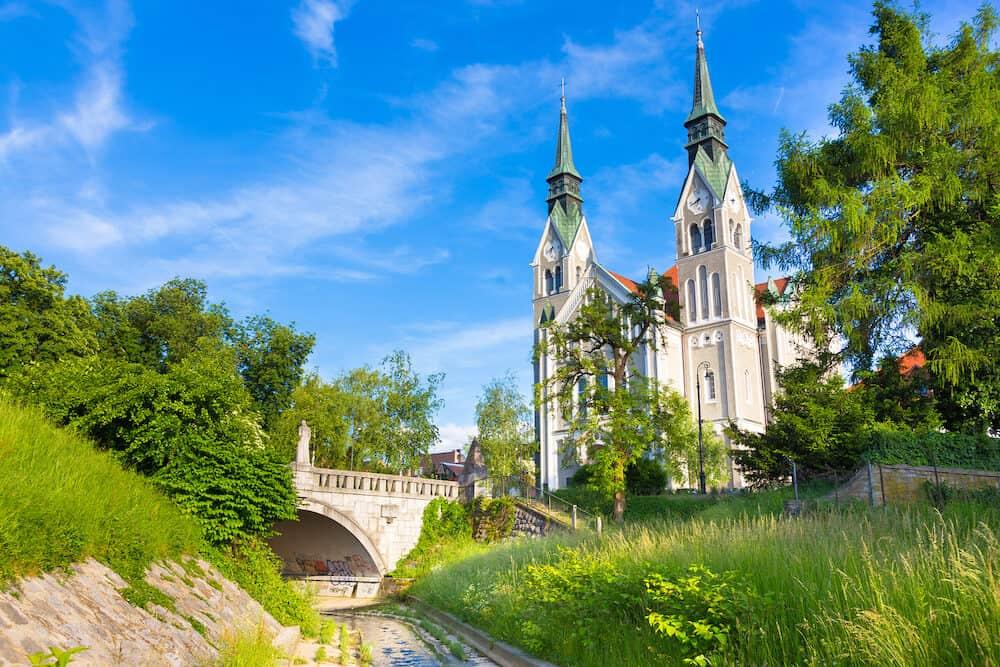 Trnovo Church also Church of St. John the Baptist, Ljubljana capital of Slovenia, Europe.