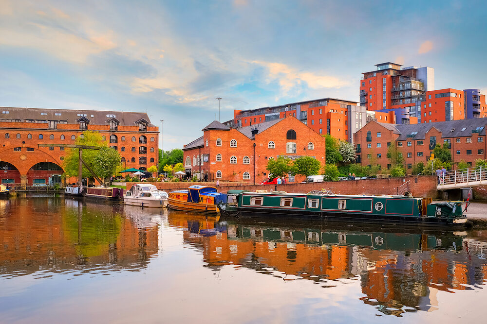 Manchester, UK - Castlefield is an inner city conservation which was the site of the Roman era fort of