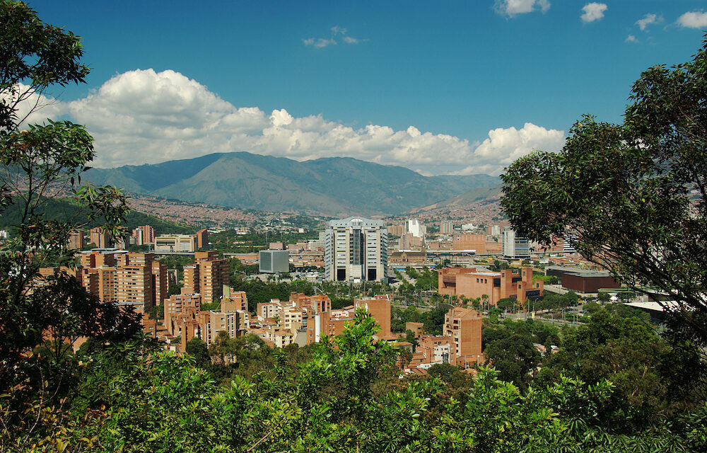 Medellin the second biggest city in Colombia which is the capital of the Department of Antioquia