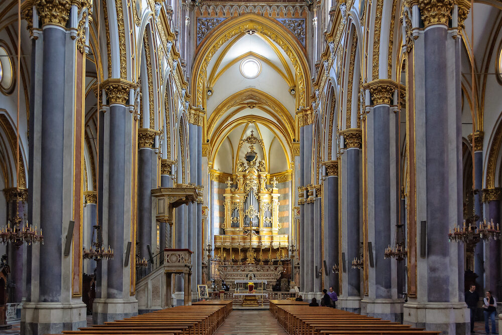 Nave of the Church San Domenico Maggiore - Naples, Campania, Italy,