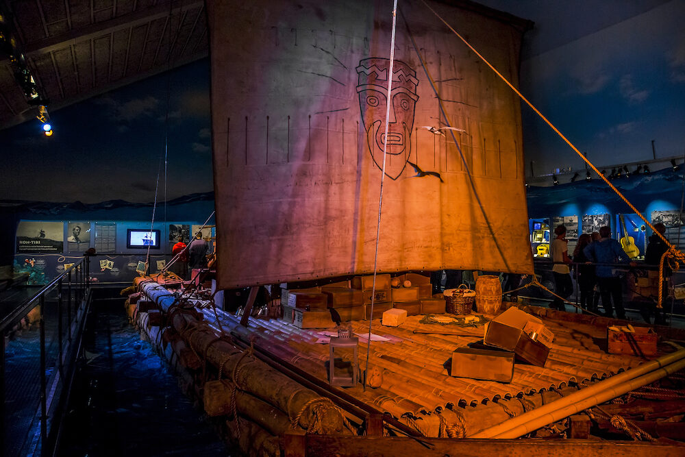 OSLO, NORWAY - It's copy of the raft Ton-Tiki on which Thor Heyerdahl made a transpacific crossing.