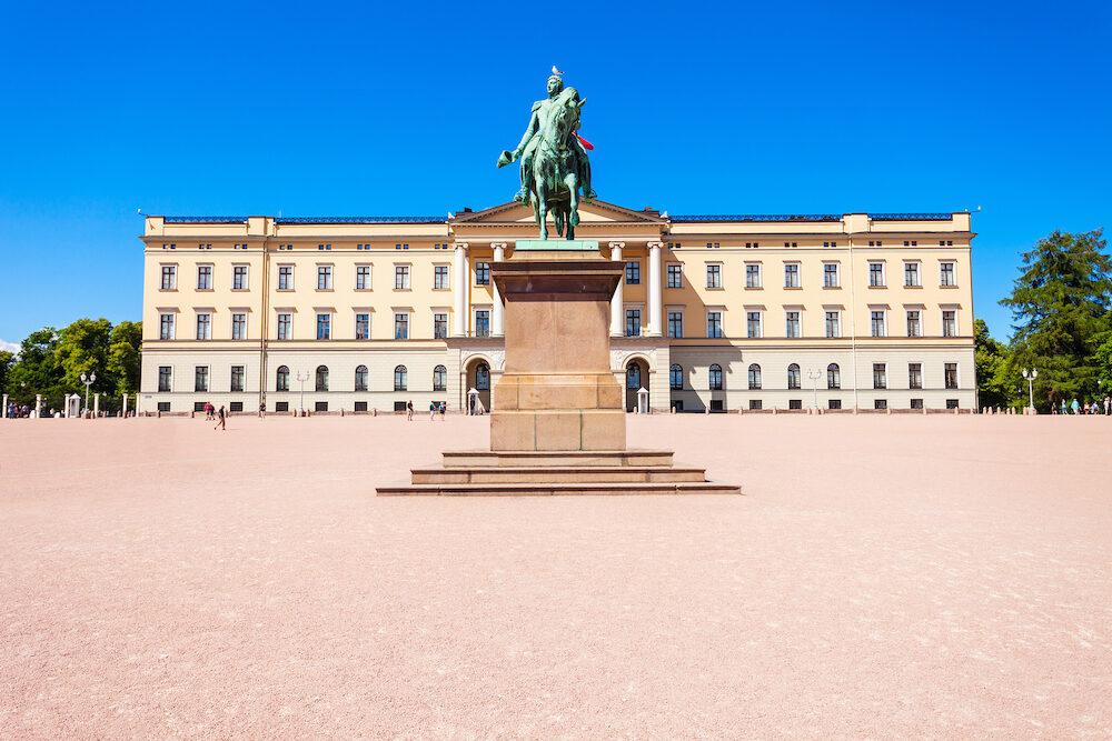 Royal Palace in Oslo, Norway. Royal Palace is the official residence of the present Norwegian monarch.
