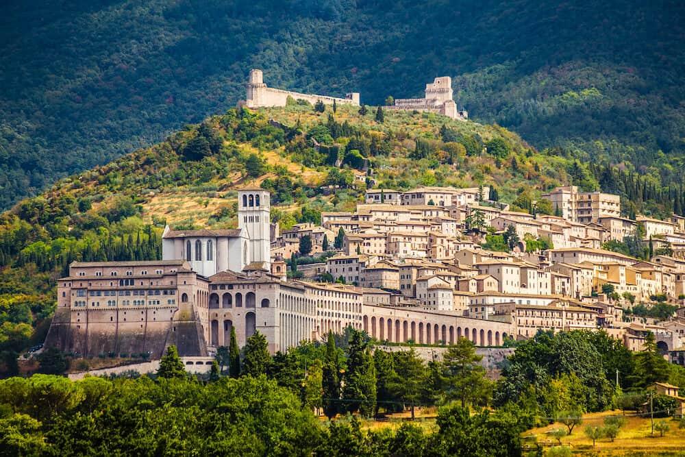 Panorama of Assisi - Province of Perugia, Umbria Region, Italy, Europe