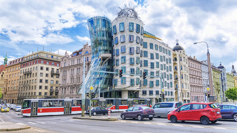 PRAGUE, CZECH REPUBLIC - : the world-famous Dancing House in Prague