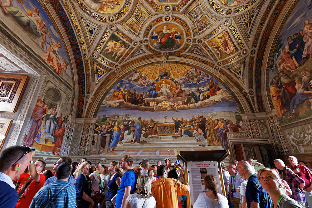 VATICAN CITY VATICAN : interiors and architectural details of Raphael rooms in Vatican museum june 15 2015 in Vatican city Vatican