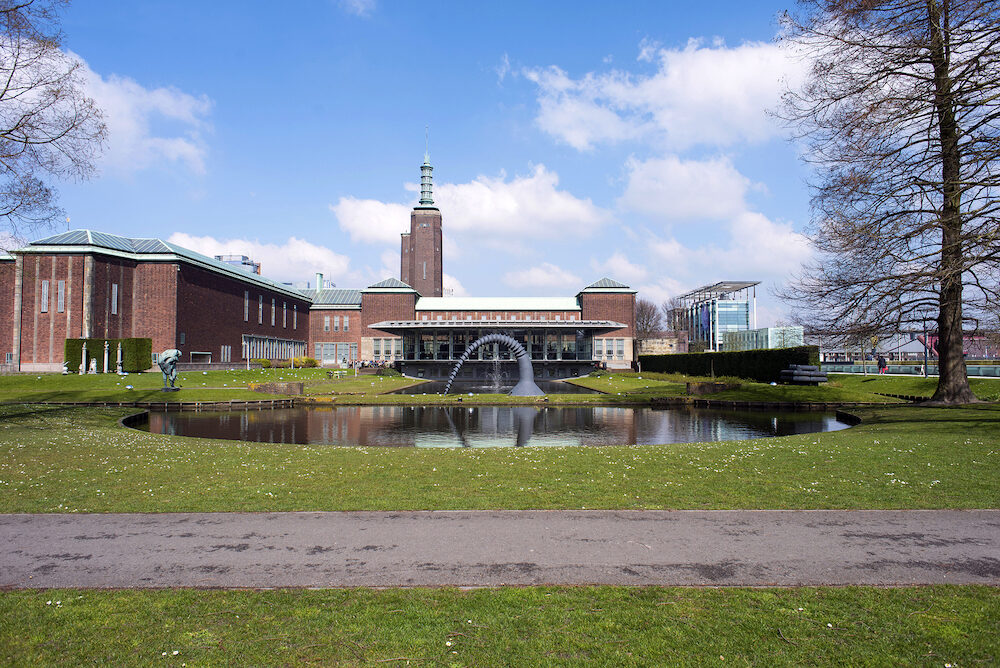 ROTTERDAM Netherlands - Boijmans Van Beuningen museum and park on Rotterdam Netherlands