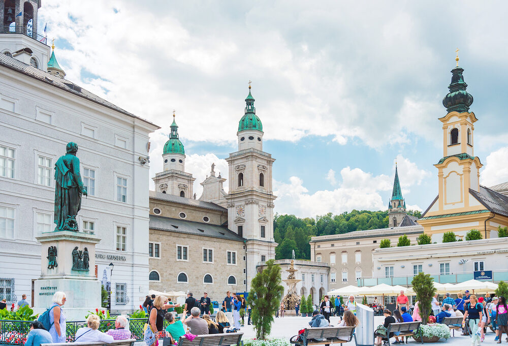 SALZBURG, AUSTRIA - : Salzburg Cathedral is the seventeenth-century Baroque cathedral of the Roman Catholic Archdiocese
