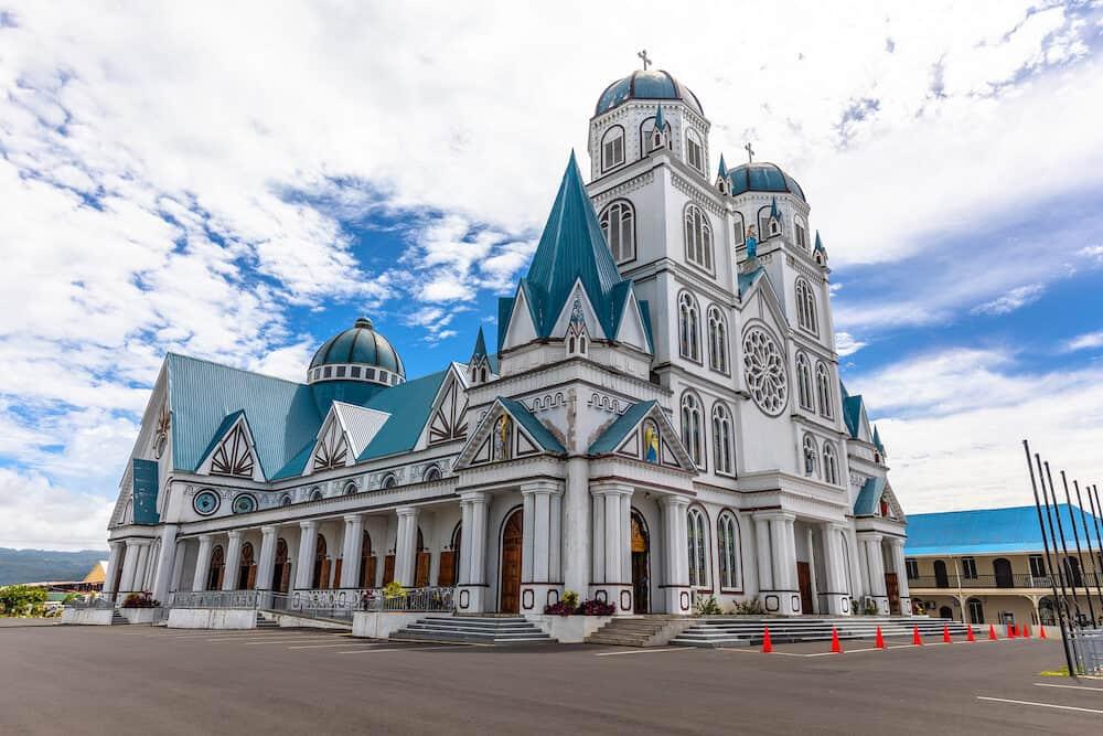 Apia, Samoa - Cathedral of the immaculate conception in Apia, capital of Samoa.