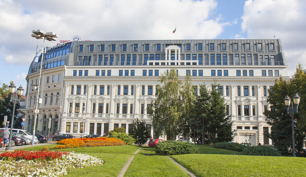 SOFIA, BULGARIA - Grand hotel Bulgaria, built in 1938 year and reconstructed in 2000