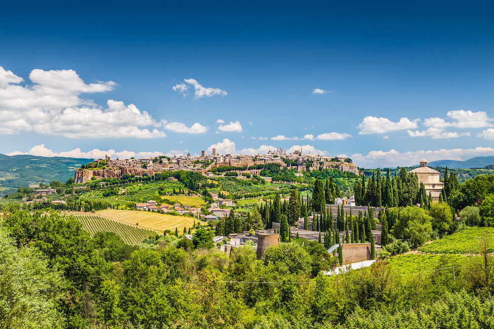 Beautiful view of the old town of Orvieto Umbria Italy