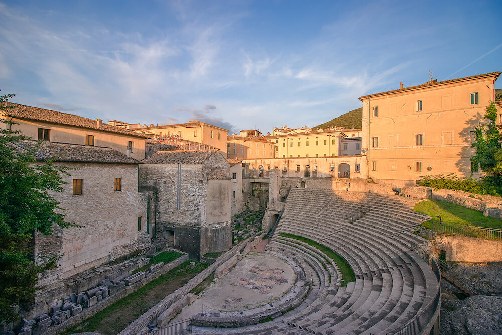 Roman Theater in Spoleto. (Teatro romano di Spoleto) Spoleto, Umbria, Italy