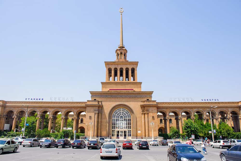 YEREVAN ARMENIA - David of Sasun station a Yerevan Metro station in Yerevan one of the original stations in Yerevan