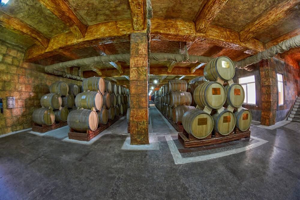 YEREVAN, ARMENIA -Noy (Ararat) Brandy factory museum visit with congac tasting