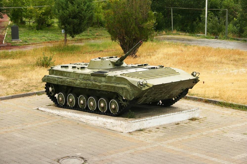 Old BMP-1 in Victory park Yerevan Armenia.