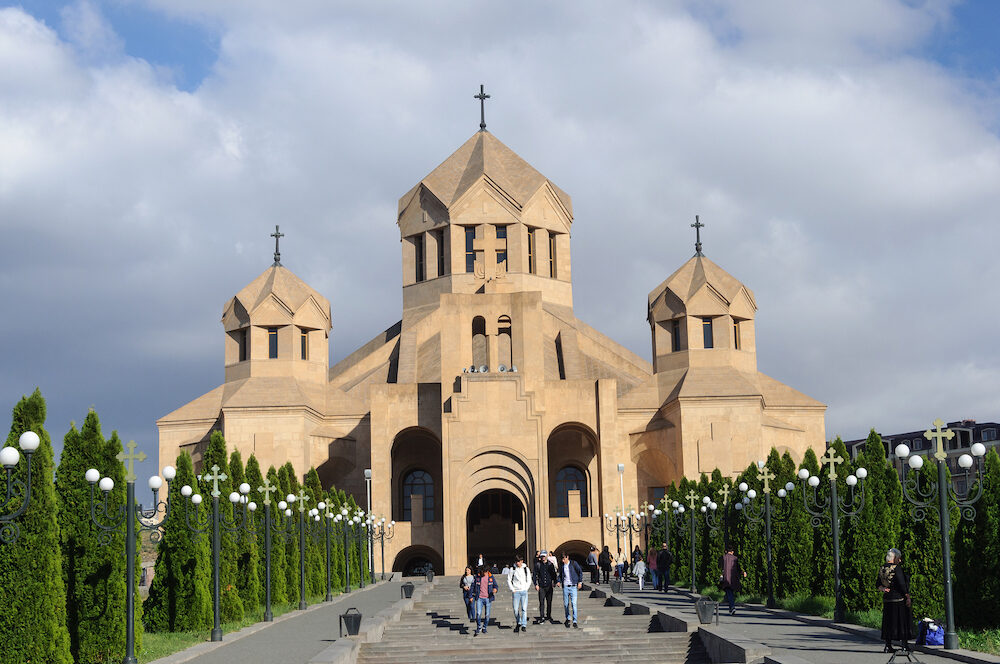 Yerevan, Armenia - Saint Gregory Lusavurich (Illuminator) Cathedral in Yerevan, the largest cathedral of the Armenian Apostolic Church