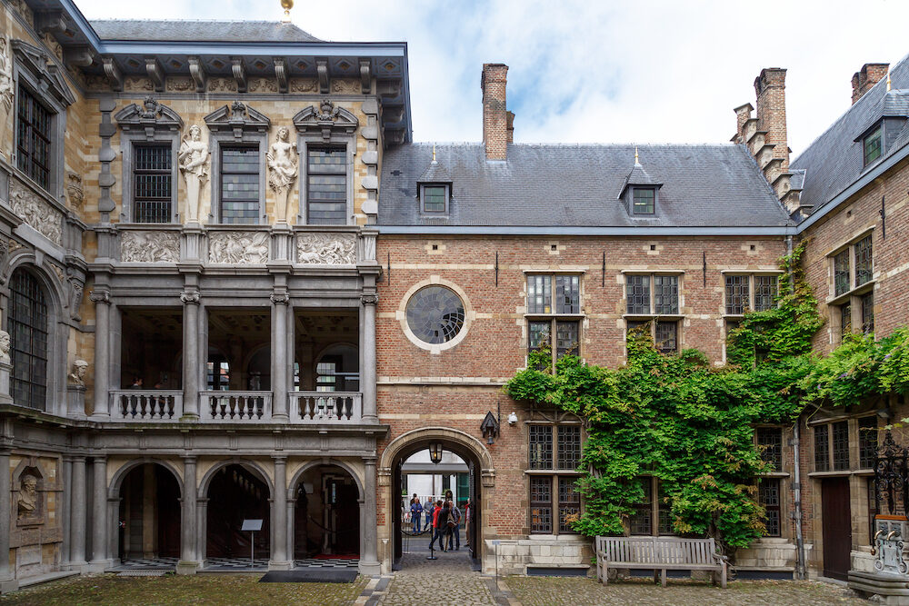 ANTWERP BELGIUM - Exterior view of Peter Paul Rubens House. Rubens is famous Flemish Baroque painter and lived in this building until his death.