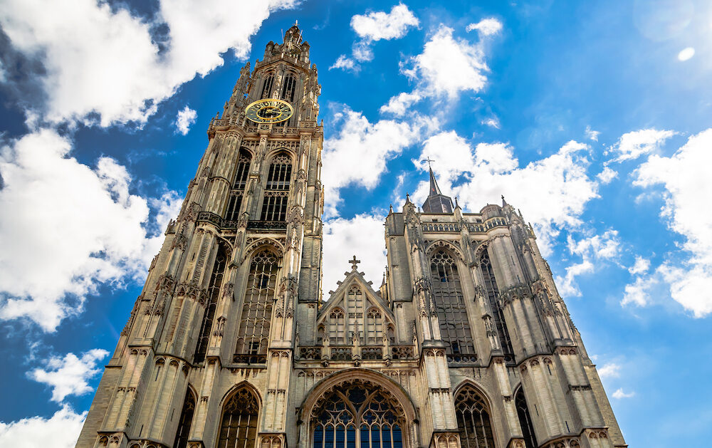 View on cathedral of our lady in Antwerp - Belgium