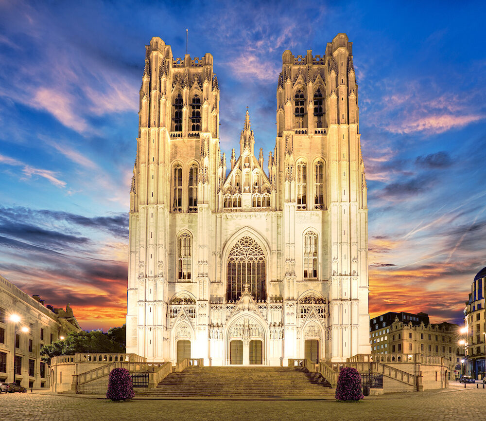 Brussels - Cathedral of St. Michael and St. Gudula, Belgium.
