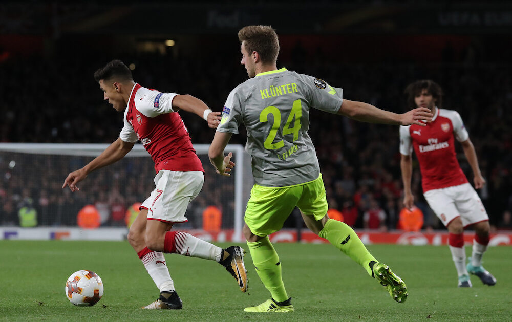 During the UEFA Europa League group H match between Arsenal FC and 1. FC Koeln at Emirates Stadium
