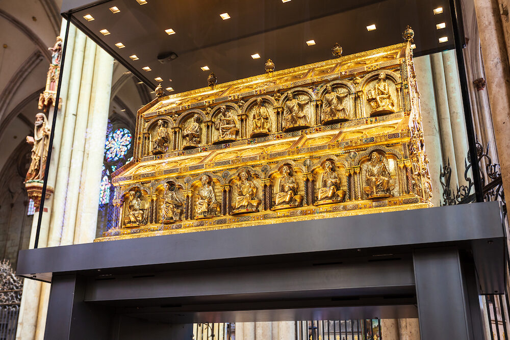 COLOGNE, GERMANY - Shrine of the Three Kings in Cologne Cathedral