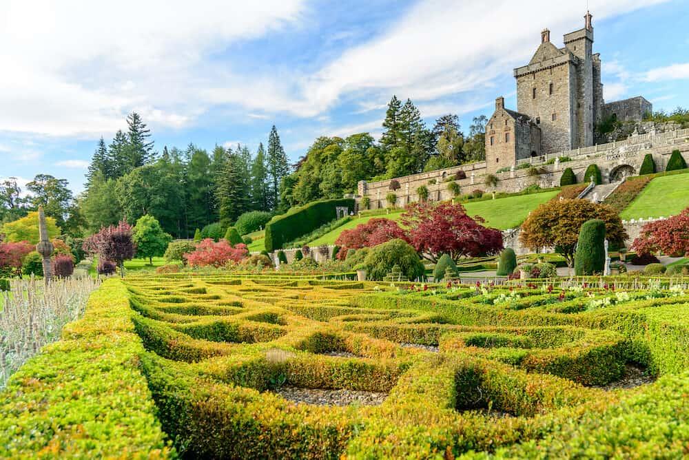 CRIEFF SCOTLAND - Drummond Castle and Gardens near Crieff in Perthshire Scotland.