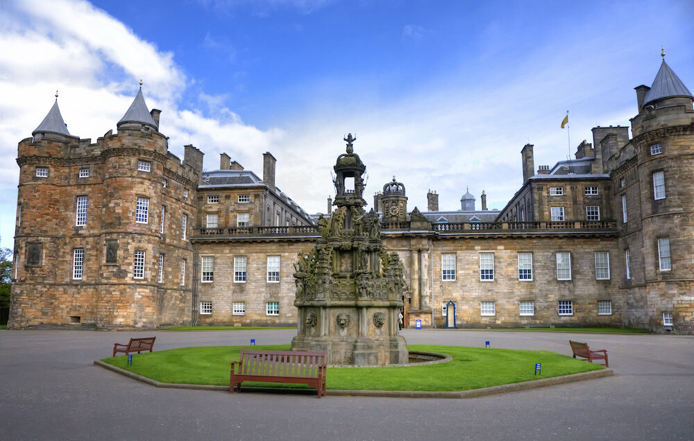 EDINBURGH - Palace of Holyroodhouse, official residence of the Monarch of the United Kingdom in Edinburgh, Scotland.