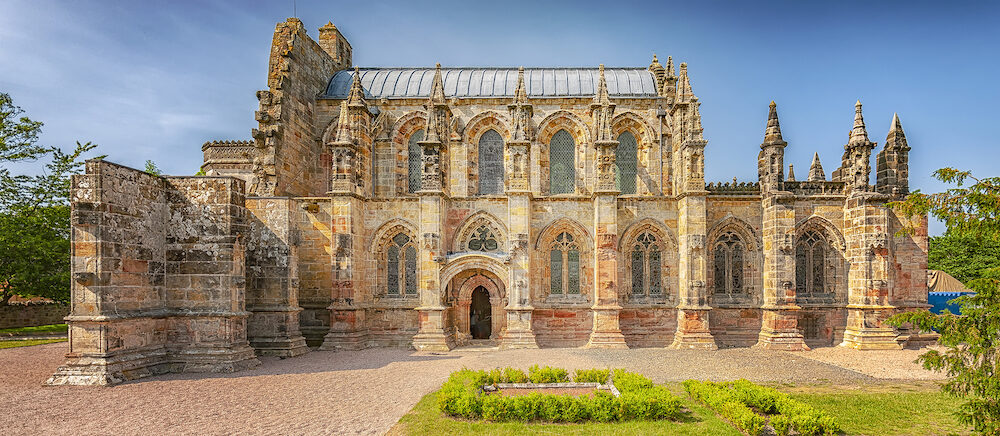 The 15th century Rosslyn Chapel situated in Scotland