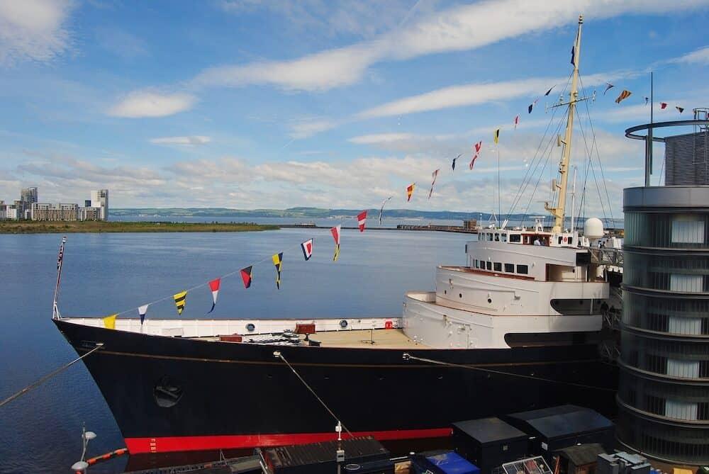 Edinburgh, United Kingdom The former Royal Yacht Britannia in Edinburgh.