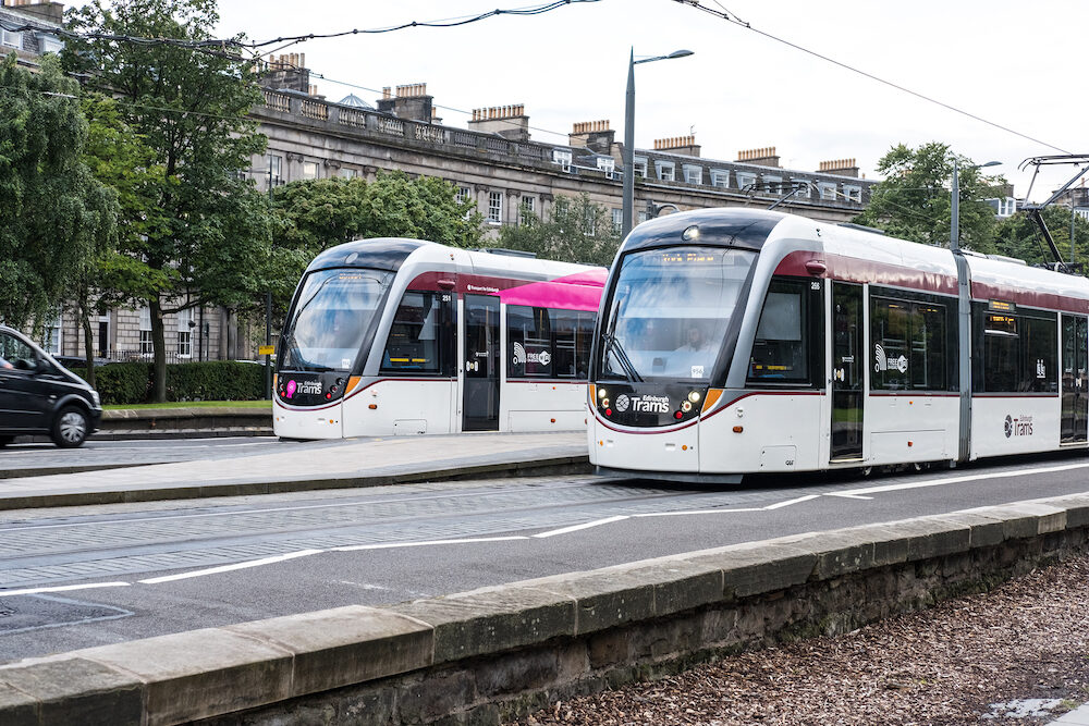 Edinburgh, United Kingdom Tram, a tramway in Edinburgh, the transportation which links between York Place in New Town and the Airport