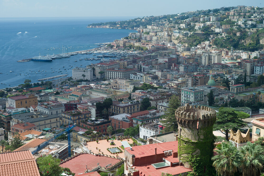 Naples, panorama from hills of Vomero quarter