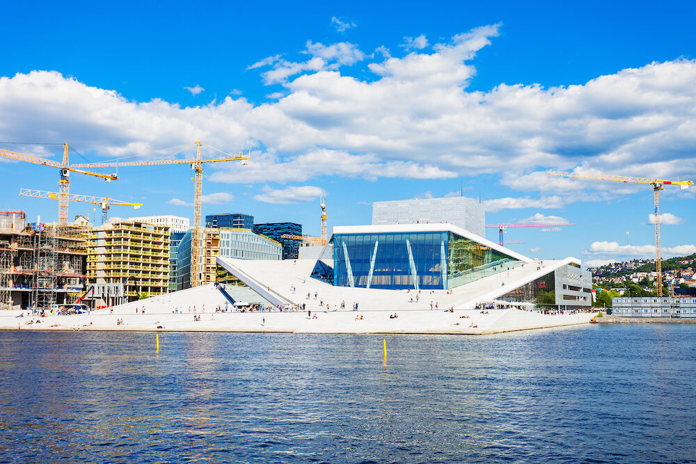 The Oslo Opera House or Operahuset is the home of The Norwegian National Opera and Ballet Theatre in Oslo, Norway