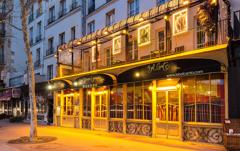 Paris, France-Bel Canto is traditional French restaurant and an original concept: a quartet of lyric singers accompanied by a piano supports the ballet of waiters.