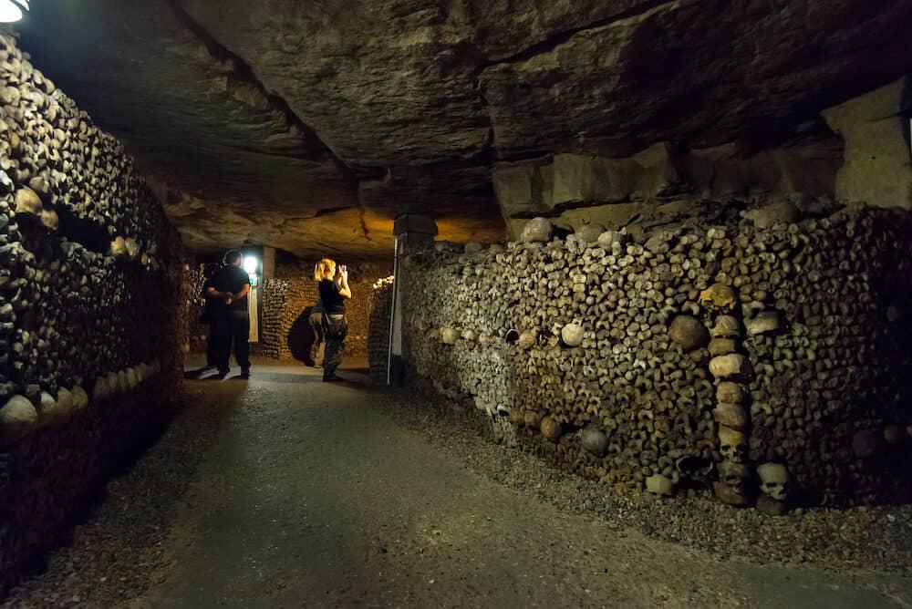 PARIS - The famous Catacombs of Paris.