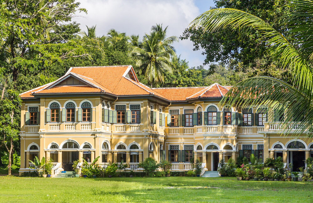 Phuket Thailand- The former Governor's Mansion. It is now a restaurant belonging to the Blue Elephant chain.