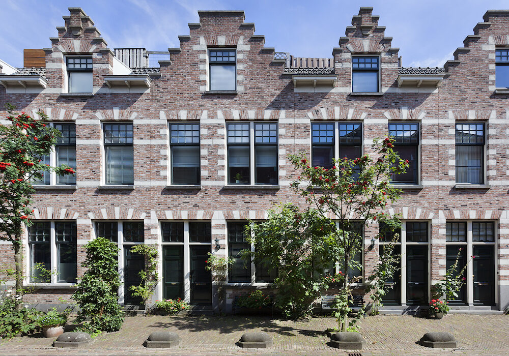 Classic style houses in residential district Kralingen in Rotterdam in the Netherlands