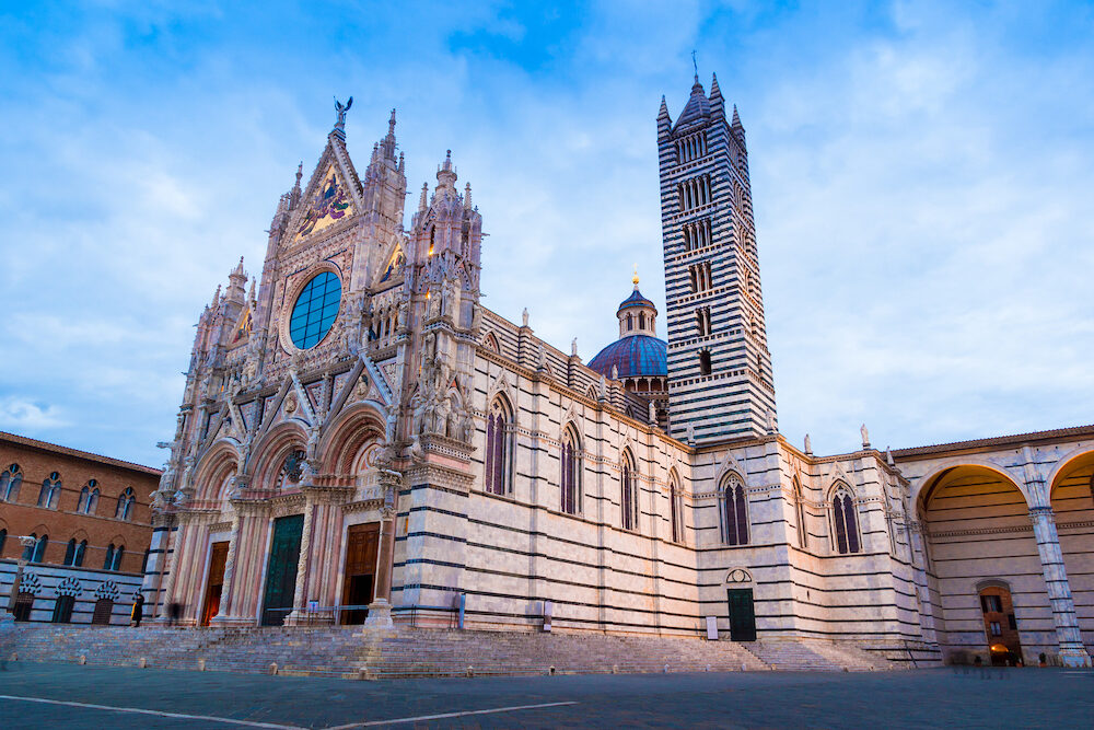 Siena Cathedral (Italian: Duomo di Siena) (1348) is a medieval church in Siena, Italy
