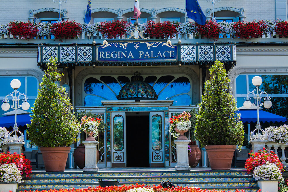 STRESA ITALY - Stresa view on Regina Palace Hotel a town on the Maggiore Lake