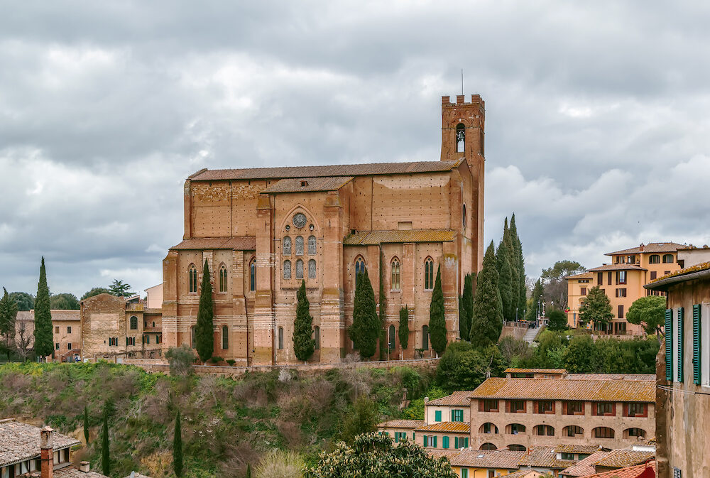 The Basilica of San Domenico also known as Basilica Cateriniana is a basilica church in Siena Tuscany Italy one of the most important in the city.