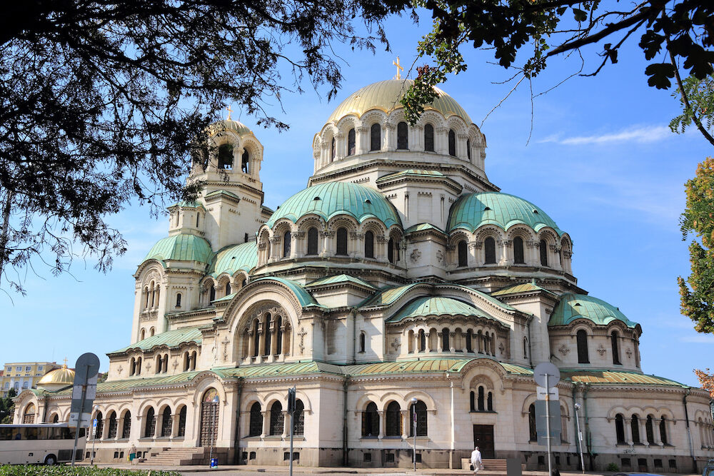 Saint Alexander Nevsky Cathedral of Sofia, Bulgaria. Orthodox Church landmark.