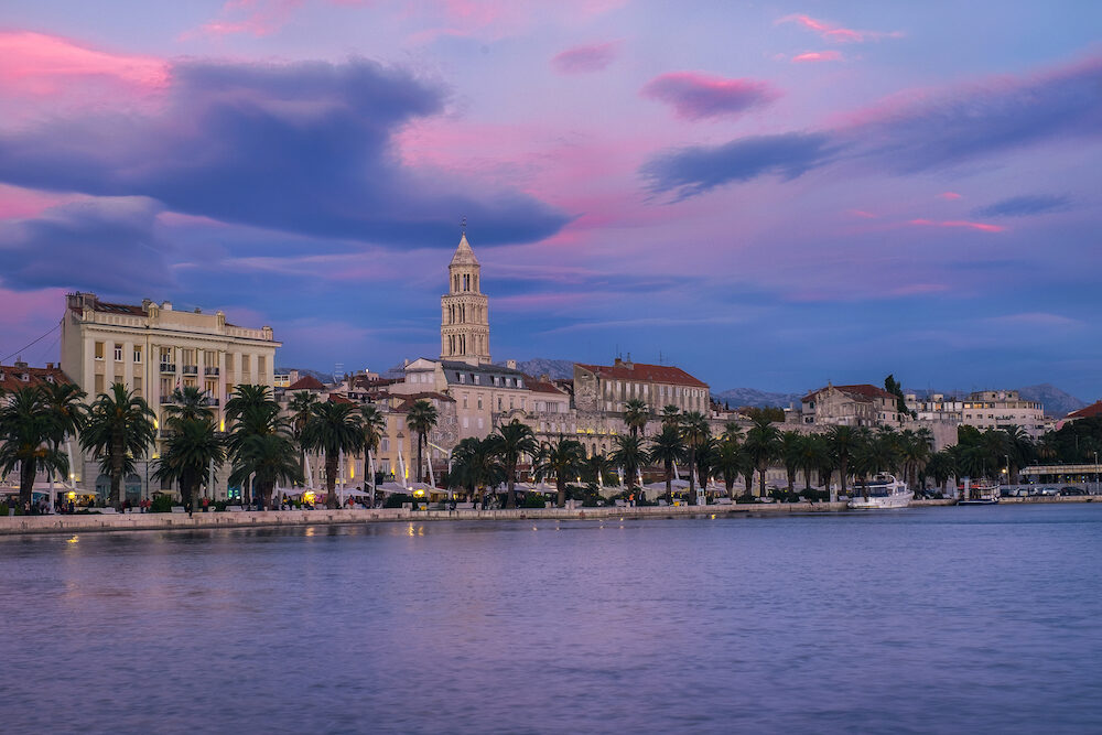 Sunset at the split's harbour - Croatia