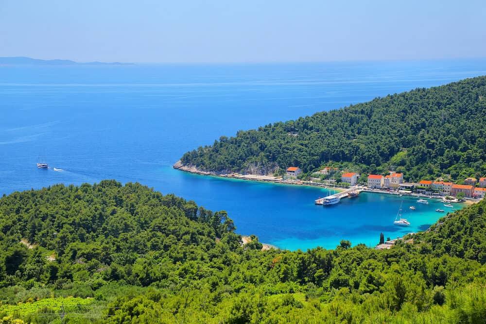 View of Trstenik town on Peljesac Peninsula Croatia.