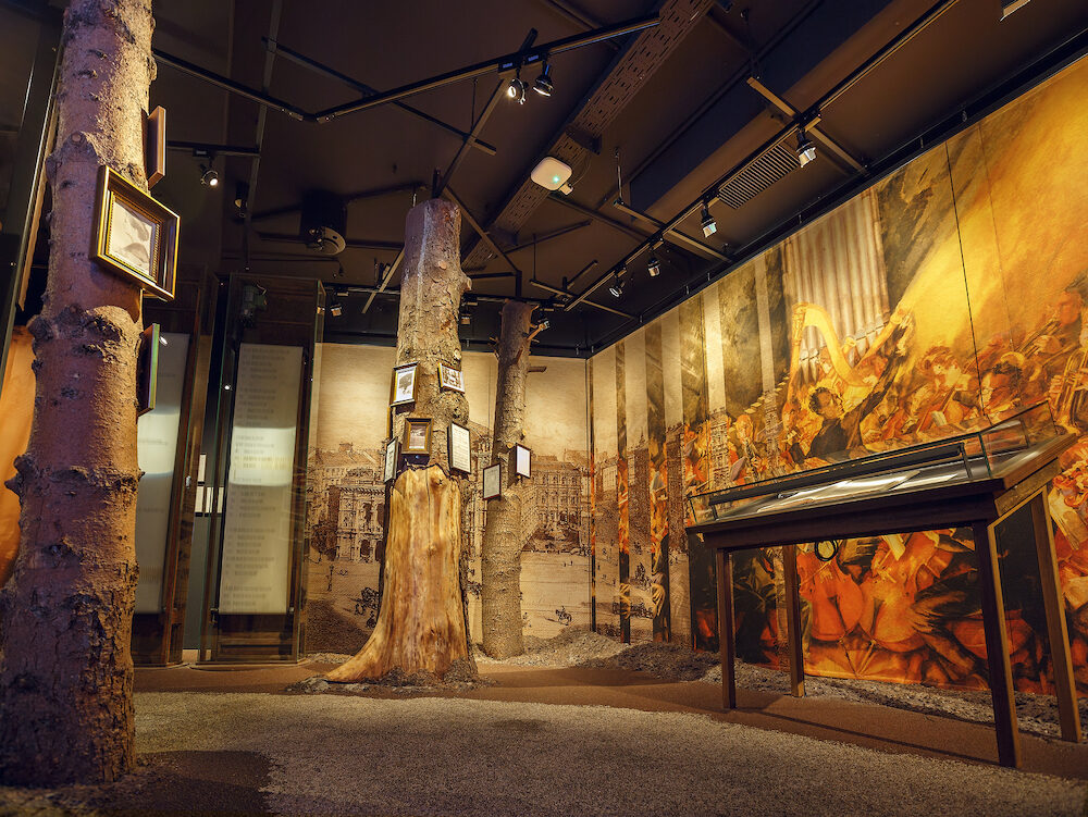 VIENNA/ AUSTRIA - Interior of the House of Music (Museum of Music).