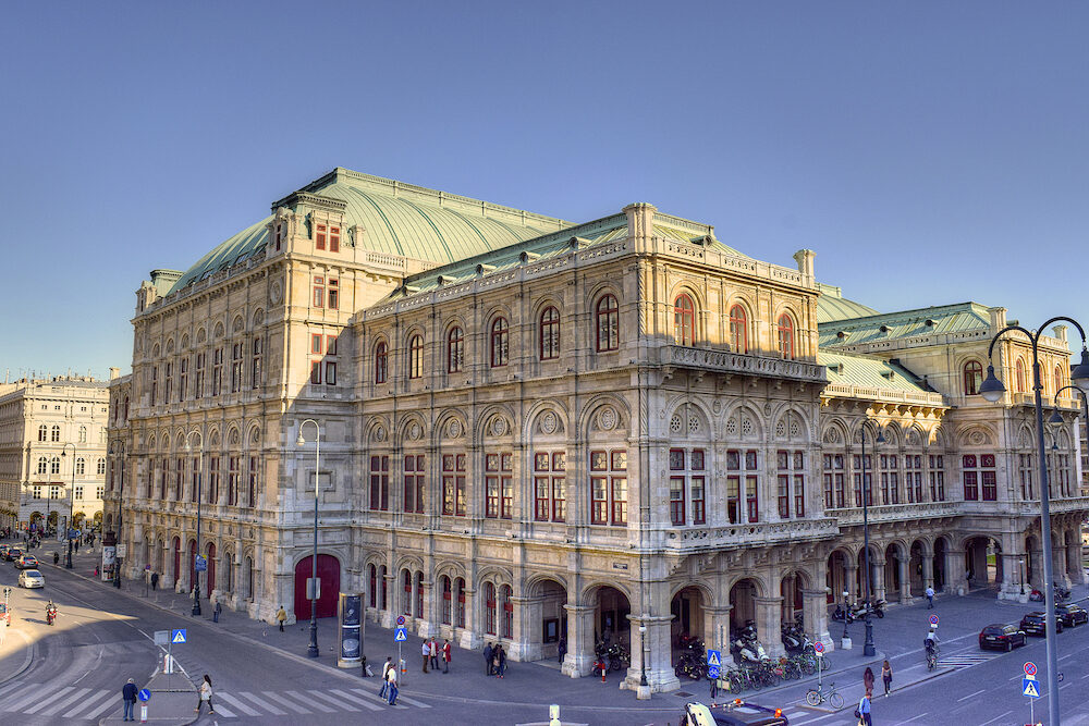 VIENNA, AUSTRIA - View of Vienna State Opera House (Staatsoper) in Vienna, Austria